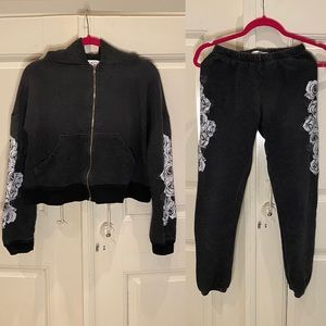 Wildfox sweater and pant set
